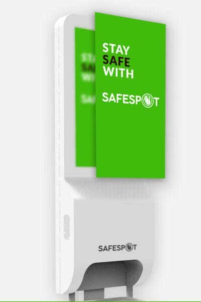 Safespot-nutika-digiekraaniga-katepuhastusjaam-varustatud-ekraaniga